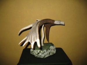 Eagle carving
