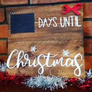 Christmas countdown wooden wall hanging