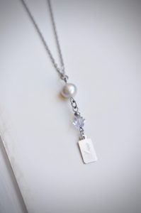 Silver necklace with love pendant