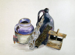 Painting of pots and press