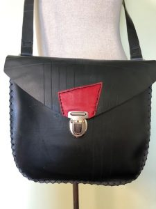 Black and red purse