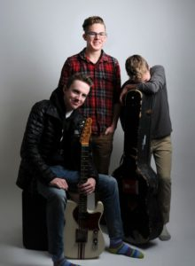 Three boys with guitars