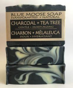Blue Moose soap charcoal tea tree