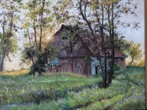 Painting of old barn