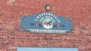 Chesterville Historical Society sign