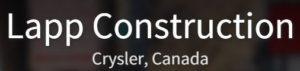 Words Lapp Construction Crysler Canada