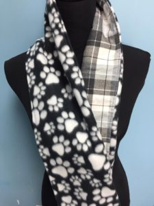 Scarf with dog prints