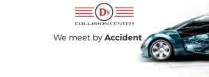 Ds Collision Centre logo and front of car