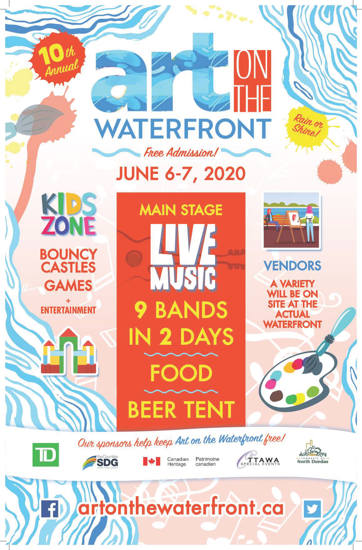 2020 Art on the Waterfront poster