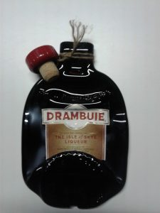 Slumped bottle of Drambuie